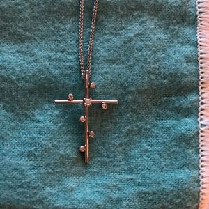 Sterling and cz cross